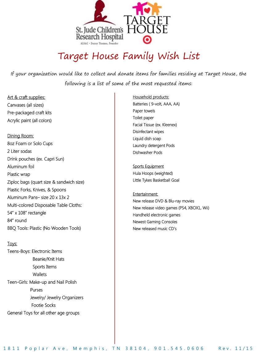 Tcar news target house wish list for Home wish list